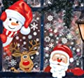 MISS FANTASY Christmas Window Clings 262 PCS 8 Sheets Christmas Window Stickers Christmas Window Decorations Xmas Holiday Santa Window Decals Clings for Glass Window
