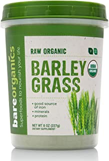BareOrganics Barley Grass Powder, 8 Ounce