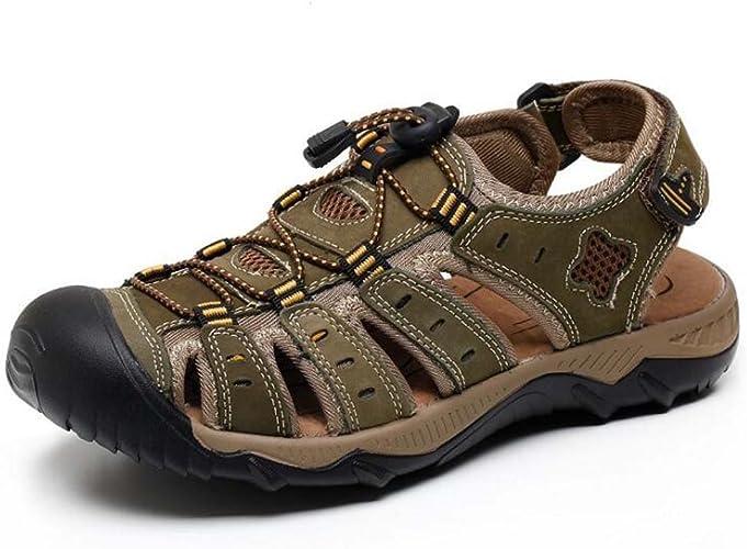 MYI Sandales pour Hommes en Plein air Casual chaussures Fashion Joker Sandales Marron Vert Jaune Taille 38-48
