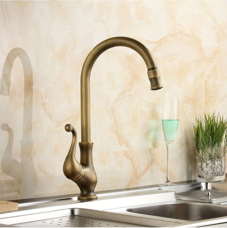 European door handle Antique copper kitchen faucet basin faucet single handle single basin faucet WEIUTY