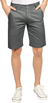 Zioloma Men's Dungarees Cotton Classic Relaxed Fit Cargo Shorts