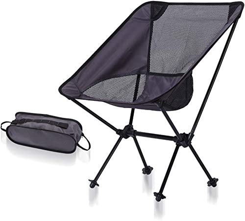 HVBYHF Chaise de Camping Pliante de Loisirs, Chaise de pêche en Aluminium portative Ultra-légère de Chaise de Pliage extérieure de Moon Chair