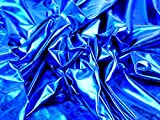 Metallic Lycra Stretch Kleid Stoff Meterware, Royal Blau +