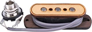 3-string Cigar Box Guitar Pickup 6.35mm Interface Maple Wood Guitar Pickup for 3-string Cigar Box Guitar Pickup