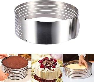 YOLIFE Multi Layer Cake Slicer Adjustable, 7-Layer Cake Cutter, 6-8 Inch Stainless Steel CakeSlicerLeveler
