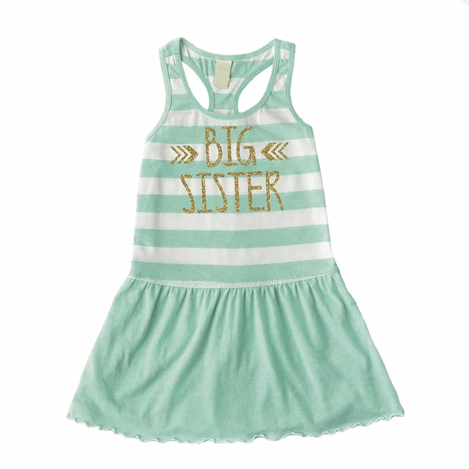 Bump and Beyond Designs Big Sister Dress, Baby Girl Clothes, Big Sister Outfit Summer Tank Dress
