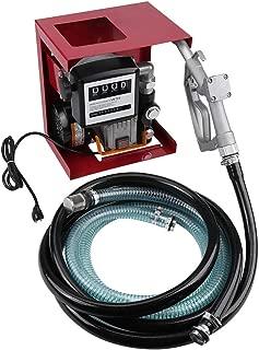 Qiilu 110V Electric Oil Diesel Fuel Transfer Pump Assembly W/Meter 13' Hose Manual Nozzle