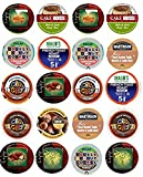 20 Cup Flavored DECAF Coffee Sampler! 10 Different Flavored DECAF Only Coffee Single Serve Cups...Delicious Flavors!