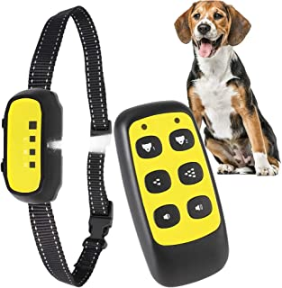 Geilibuy Dog Training Collar, Small Spray Antibark Collar for Small to Large Dogs 8-100lbs, 2In1 Rechargeable Spray Dog Co...