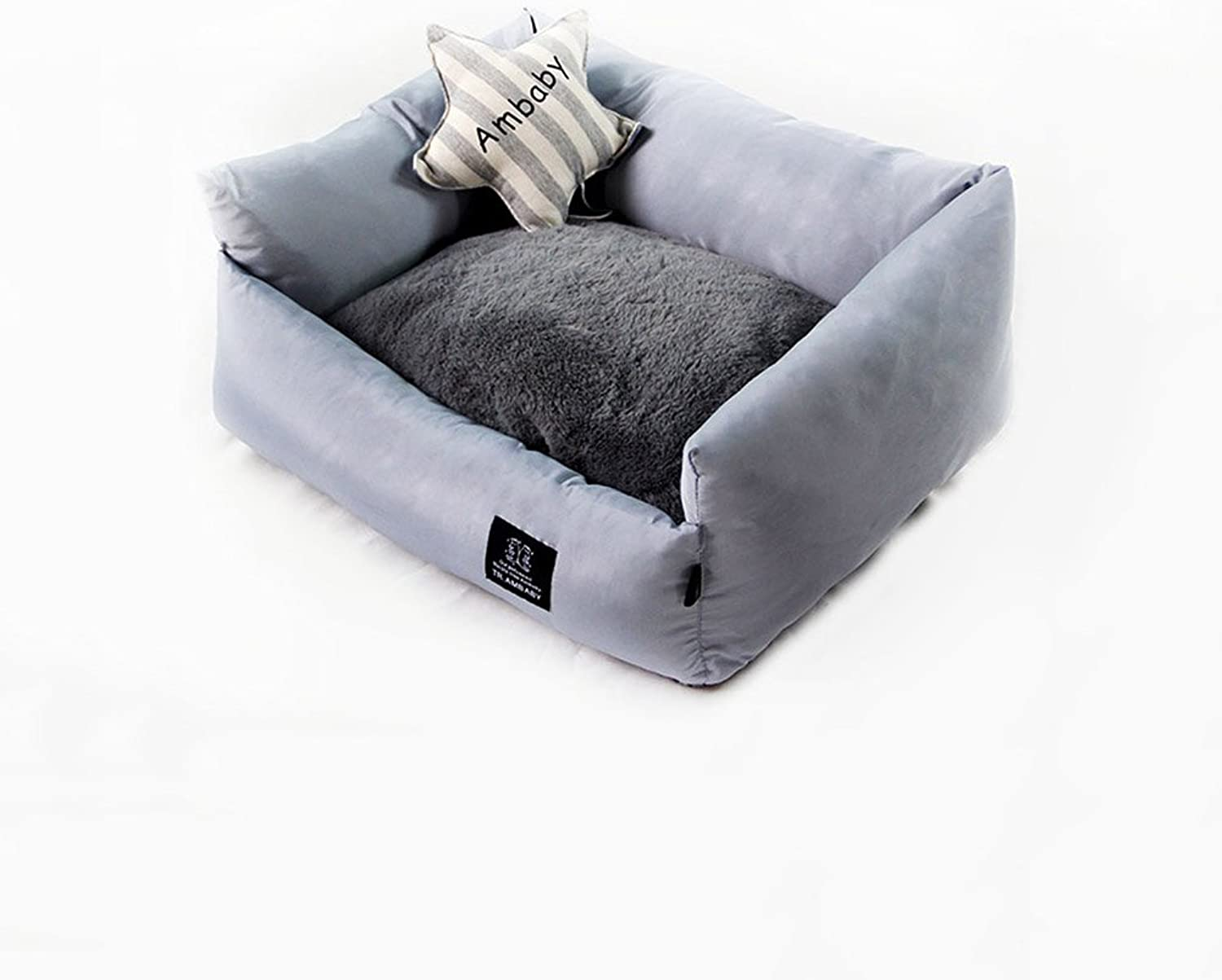 FH Teddy Washable Cat Nest Kennel Puppy Dog Bed Mat Small Medium Dog Doghouse Winter Summer Pet Supplies Dog Houses (Size   L62  55  22cm)