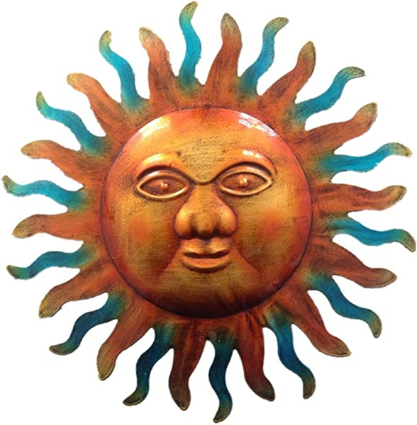 WANDERBAL HOME Indoor Or Outdoor Decoration Artistic Metal Sun Wall Art 12 8 Inch