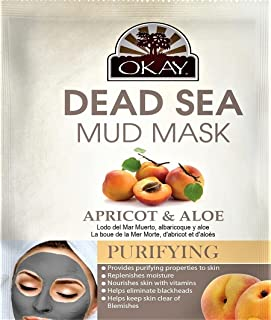 OKAY | Dead Sea Mud Mask - Natural | For All Skin Types | Mineral Rich | Nourish | Hydrate | 1.5 oz