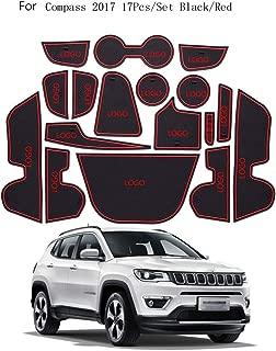 Busirde Reemplazo 19pcs para Jeep Wrangler 2018 JL Puerta Groove Mat Antideslizante de la Taza del coj/ín Interior Decoraci/ón de Accesorios