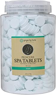 Ginger Lily Farms Botanicals Pedicure Spa Tablets Ocean, Replenishes Moisture, Softens & Conditions Skin, 105 oz, 500Count