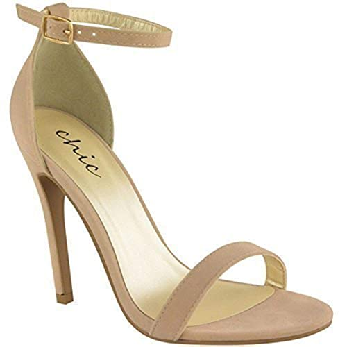 2a241538c Fashion Thirsty WOMENS LADIES STRAPPY STILETTO HIGH HEEL SANDALS ANKLE  STRAP CUFF PEEP TOE SHOE