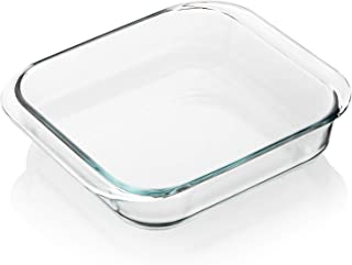 SWEEJAR Glass Bakeware, Rectangular Baking Dish Lasagna Pans for Cooking, Kitchen, Cake Dinner, Banquet and Daily Use, 9.4...