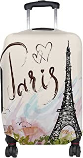 MALPLENA I Love You Paris Pattern Luggage Protector Suitcase Cover