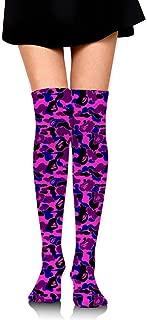 Bape Shark Pink Over Knee Thigh Socks High Thigh Stockings Women Sock for Cosplay, Leg Warmers Length 23.6 in.