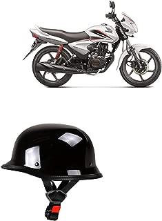 Adroitz Glossy Black Half Helmet for Vespa Elegante 150