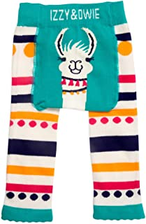 Izzy & Owie-12-24 Month Teal Llama/Alpaca Baby Girl Soft & Stretchy Leggings, Blue, 12-24 Months