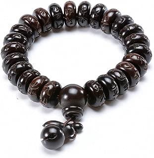 Tibetan Buddhist Mala Buddha Bracelet Natural Wood Bead Bracelet Om Meditation Yoga Prayer Bracelets