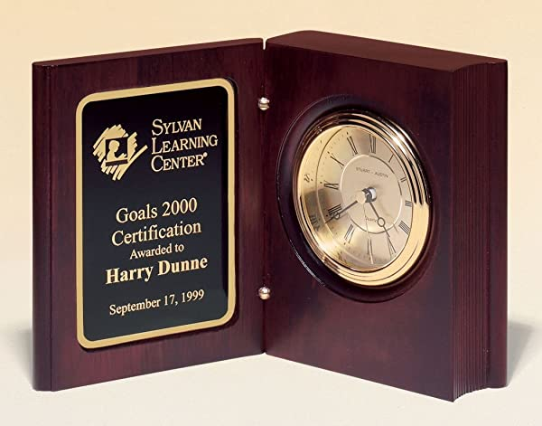 Book Clock With Free Engraving Customize Now