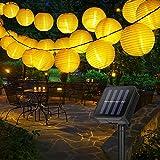 Solar Lichterkette Aussen GolWof 6 Meter 30 LED Lampion Lichterkette Wasserdicht Lampions Solar...