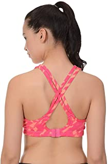 Fashiol Women's Synthetic Mid Impact Underwire Yoga Sports Padded Running Jogging Exercise Fitness Block out Vest Gymwear ...