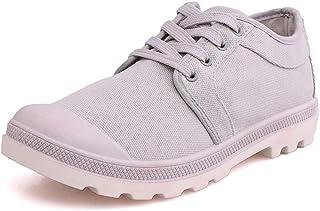 2019 New Canvas Shoes Men's Summer Fashion Front Trend Men's Shoes Casual Shoes (Color : Grey, Size : 42)