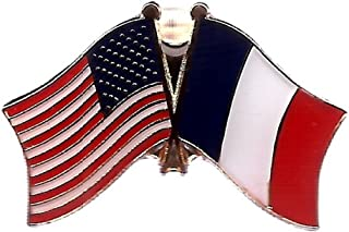 ALBATROS USA American France Flag Bike Motorcycle Hat Cap Lapel Pin for Home and Parades, Official Party, All Weather Indoors Outdoors