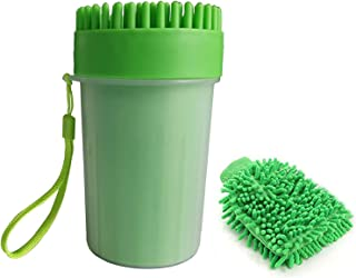 Coriver Upgrade hond poot reiniger, draagbare huisdier reinigingsborstel cup hond voet reiniger hond kat voeten wasmachine...