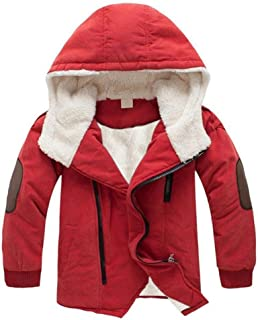 WARMSHOP Baby Boys Hooded with Fur Warm Winter Jacket Zipper Casual Winter Coat Clothing