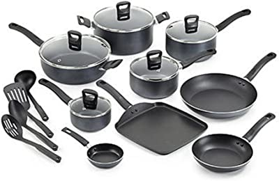 T-fal 18-Piece Gray Banquet Nonstick Cookware Set