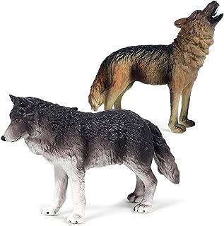 Kolobok – Safari Animals Action Figures – Wild Wolf and Dog – Zoo Animals Educational Toys –2 pcs Playset