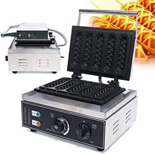 Sponsored Ad - TBVECHI Hot Dog Waffle Machine, 5Pcs Nonstick Corn Dog Waffle Maker, Stainless Steel for Restaurant Bakerie...
