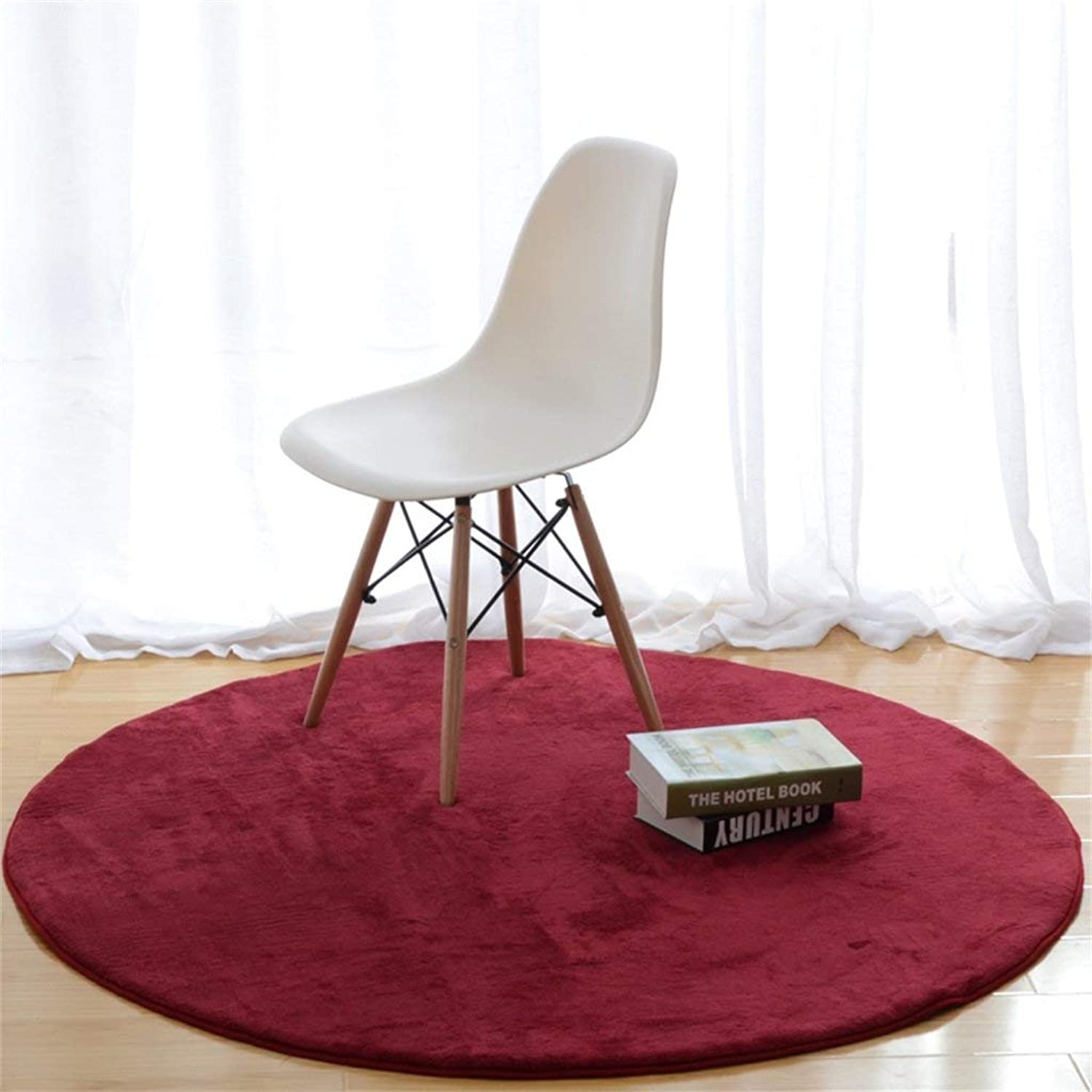 Royare Home Decorations mat Round Carpets Simple and Stylish Coffee Table Bedroom Hanging Basket Computer Chair Carpet Anti-Skid Wear (color     9, Size   Diameter 100cm)