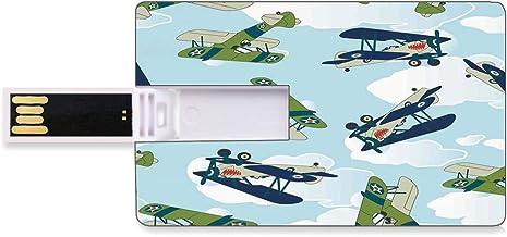 32 GB USB Flash Thumb Drives Airplane Decor Bank Credit Card Shape Business Key U Disk Memory Stick Storage Vintage Allied...
