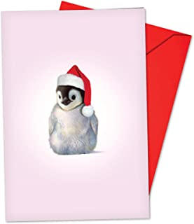 Christmas Zoo Babies - 12 Cute Penguin Merry Christmas Cards with Envelopes (4.63 x 6.75 Inch) - Adorable Baby Penguins, Boxed Xmas Gift - Animal Notecard Set for Kids, Adults B6726BXSG