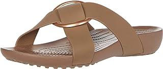 Crocs Women's Serena Cross Band Slide Casual Lightweight Sandal