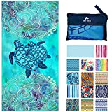 Microfiber Towels - Quick Dry Camping, Sports, Beach, Backpacking, Yoga, Gym, Travel Towel XL 78x35 w/ Bag - Soft, Compact, Lightweight