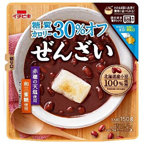 イチビキ 糖質カロリー30%オフ ぜんざい 150g×10袋入×(2ケース)