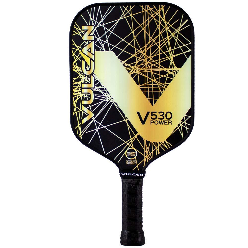 Vulcan V530 Power Pickleball Paddle Gold Lazer