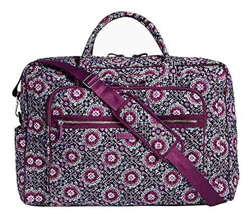 Vera Bradley Iconic Grand Weekender Travel Bag in Lilac Medallion