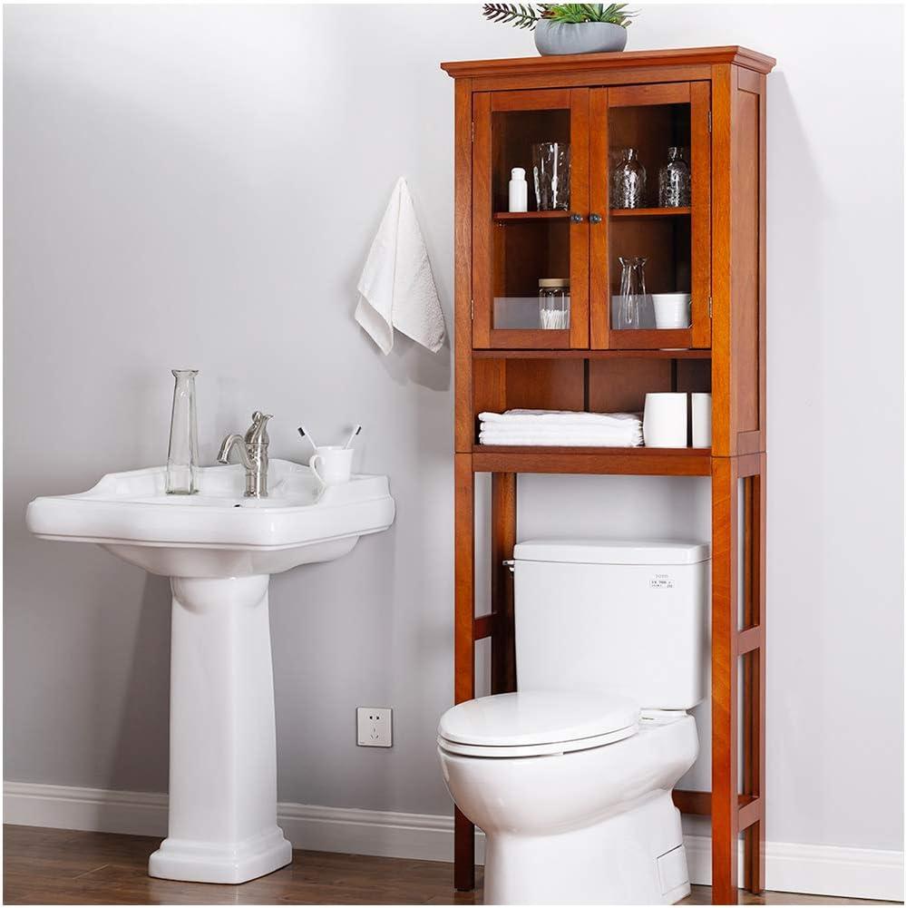 Ranking TOP6 Glitzhome 68.25 In a popularity Inch Wooden Bathroom Floor Storage Cabinet Multi
