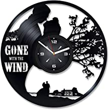 Gone with The Wind Book Vinyl Record Wall Clock. Decor for Bedroom, Living Room, Kids Room. Gift for Boys or Girls. Christmas, Birthday, Holiday, Housewarming Present.