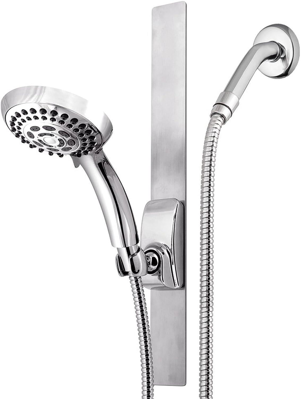 Waterpik VSS-563MT Series Magnetic Slide Strip, Adjustable Height Shower Head, Chrome