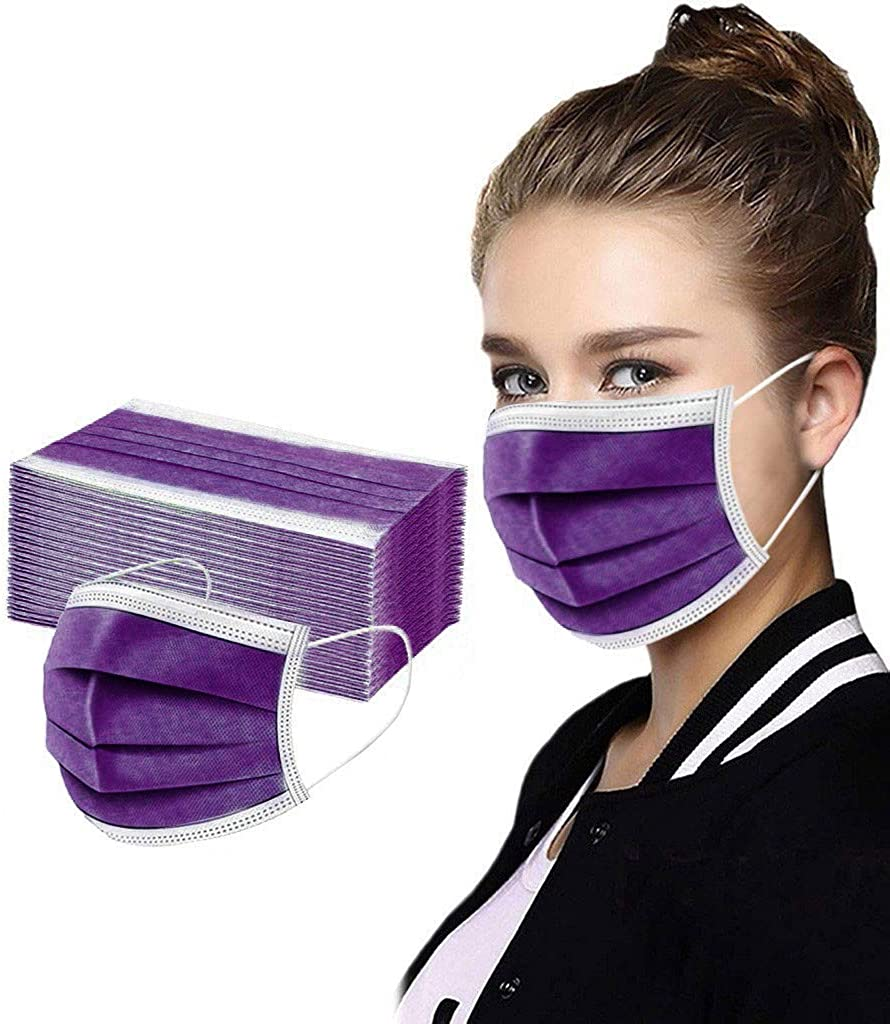 Genuine 【USA Stock】 50 Pcs Disposable Layer Award-winning store Face Protection Mask 3