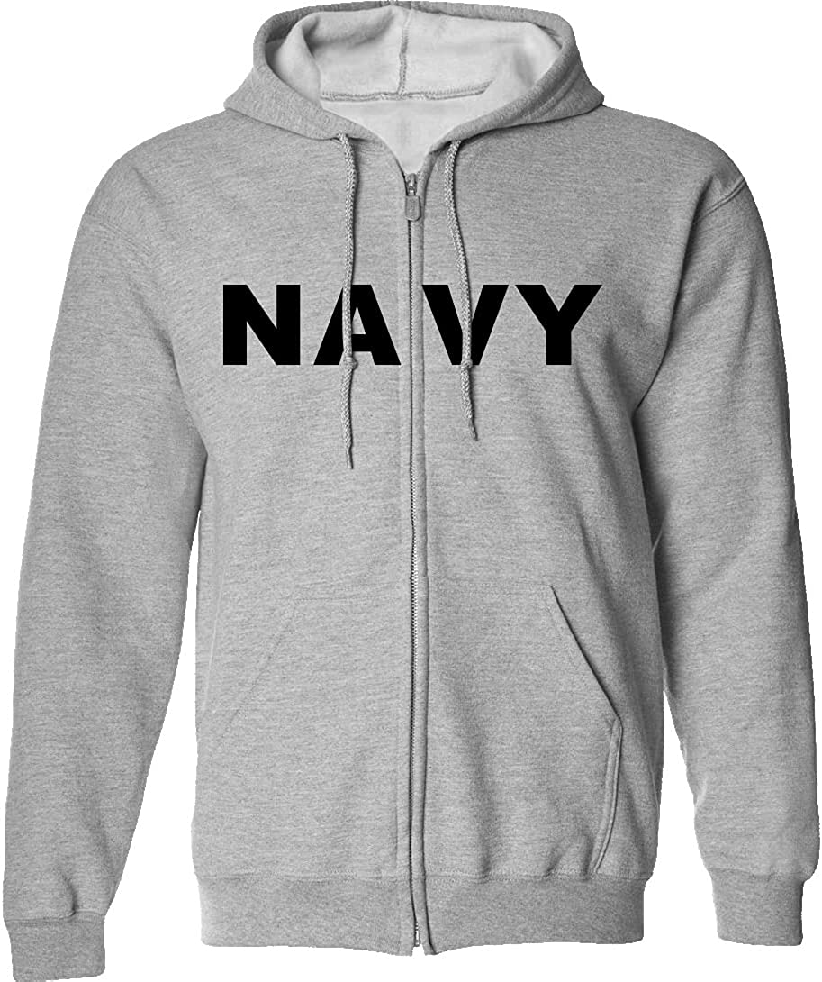 Navy Full-Zip メーカー再生品 Hooded in Gray 『1年保証』 Sweatshirt