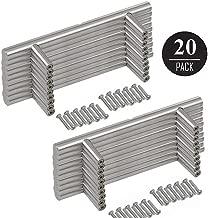 "EEEKit Solid Stainless Steel Bar Handle Pull, 6"" Hole Center Fine-Brushed Satin Nickel Finish, Kitchen Cabinet Hardware, Dresser Drawer Handles"
