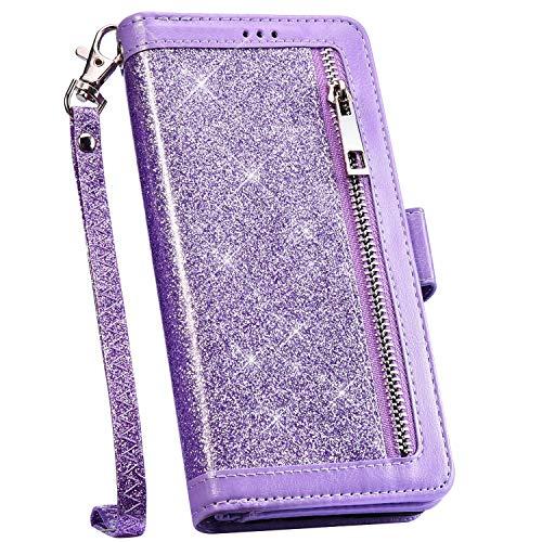 Ysimee Schutzhülle für Huawei Mate 30 Lite/Nova 5i Pro, PU-Leder violett